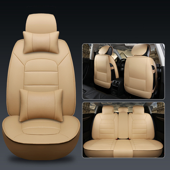 LCRTDS Universal Leather Car seat cover for vw jetta 6 mk6 mk5 passat b3 b5 b5.5 b6 b7 b8 cc of 2018 2017 2016 2015