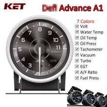 Difi Advance A1 60mm Defi Gauge Water Temp Gauge Oil Temp Gauge Turbo Boost Gauge Ext Temp Gauge Oil Pressure Gauge greddi gauge water temp 7 light colors lcd display oil pressure turbo rpm racing meter 62mm 2 5 inch with sensor car accessiores