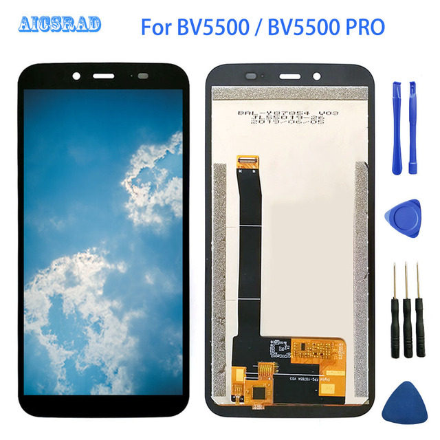 5.5 inch 1440*720 For Blackview BV5500 Pro LCD Display+Touch Screen 100% Tested bv 5500 plus Digitizer Assembly Replacement