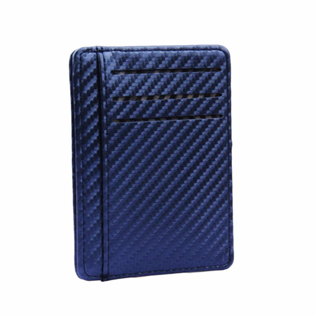 มัลติฟังก์ชั่ Slim กระเป๋า Cardholder กระเป๋าสตางค์ลำลองฝาครอบบัตรเครดิตบัตรเครดิตธุรกิจสำหรับผู้ชายการปิดกั้น