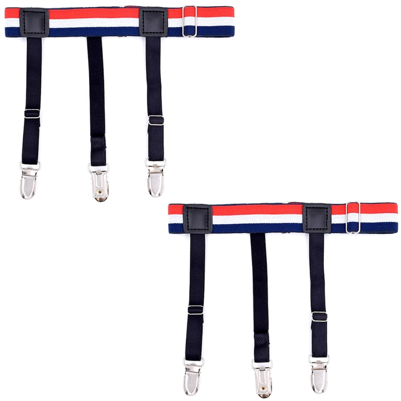 2Pcs Effective Men Shirt Stays Business Suspender Braces Belt Elastic Holder New LX9E