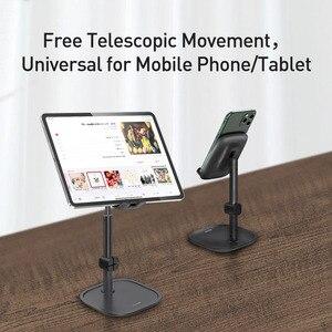 Image 4 - Baseus Soporte de teléfono para iphone 11, 11 pro, X, XS, XR, Android, Huawei, soporte giratorio de 360 grados para ordenador portátil, soporte universal de escritorio