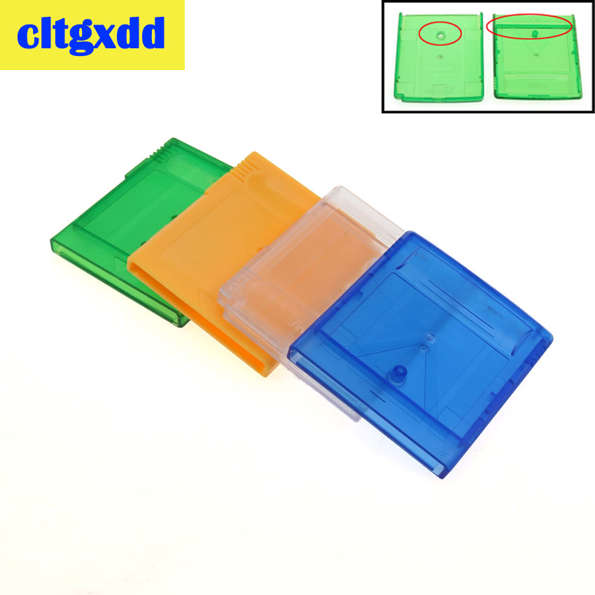 cltgxdd Clear Blue Green Game Card Housing Box <font><b>Case</b></font> Replacement For GBA SP Game Cartridge Housing Shell For <font><b>GB</b></font> GBC Card <font><b>Case</b></font> image