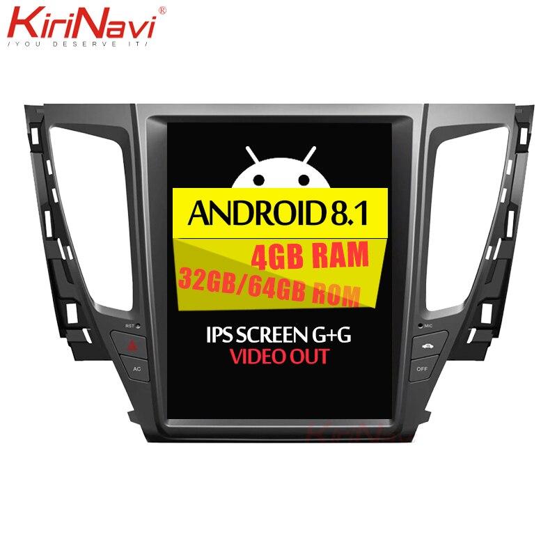 KiriNavi écran Vertical Tesla Style Android 8.1 autoradio pour Mitsubishi Pajero Sport voiture Dvd lecteur multimédia Navigation GPS