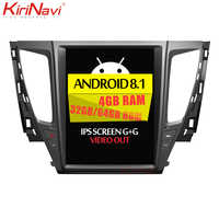 KiriNavi Vertical Screen Tesla Style Android 8.1 Car Radio For Mitsubishi Pajero Sport Car Dvd Multimedia Player GPS Navigation