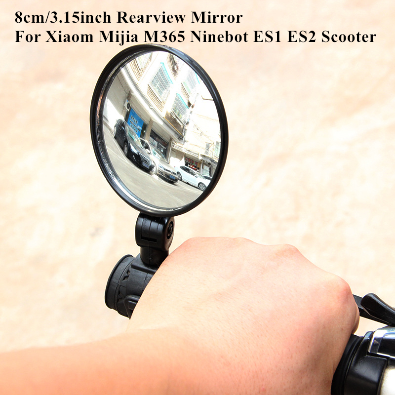 3.15Inch Scooter Rearview Mirror For Xiaomi Mijia M365 Ninebot ES1 ES2 Qicycle EF1 Bike Back Mirror Cycle Strap Reflex Rear View