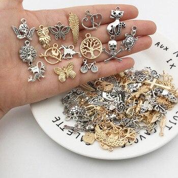 Abalorios variados Vintage de 20/40 Uds. De Metal con diseño de pájaros, cuentas hechas a mano para pulsera DIY, Clips de encaje, accesorios para fabricación de joyas