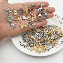 Vintage mieszane 20/40 sztuk Metal zwierząt ptaki wisiorki koraliki Handmade DIY bransoletka wisiorek naszyjnik klipy komponenty do wyrobu biżuterii
