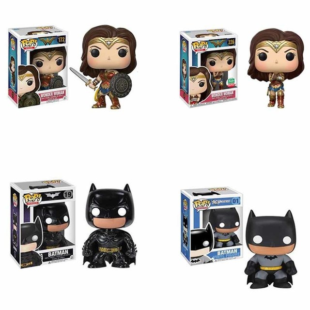 FUNKO POP Wonder Woman #226 # 172 Batman #19 #01 DC Comics Action Figure Toys Vinyl Decoration Models for Kids Birthday Gifts 1