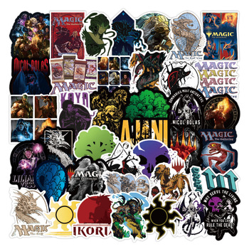55pcs/pack Card Game Classic Magic The Gathering Stickers For Refrigerator Car Helmet DIY Gift box Bicycle Guitar Notebook Skate - discount item  26% OFF Classic Toys