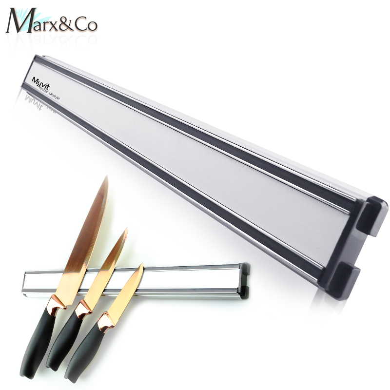 Manyetik bıçak tutucu 14 inç mutfak bıçağı standı bar şerit duvar mıknatıs blok alüminyum bıçakları depolama pişirme aksesuarları