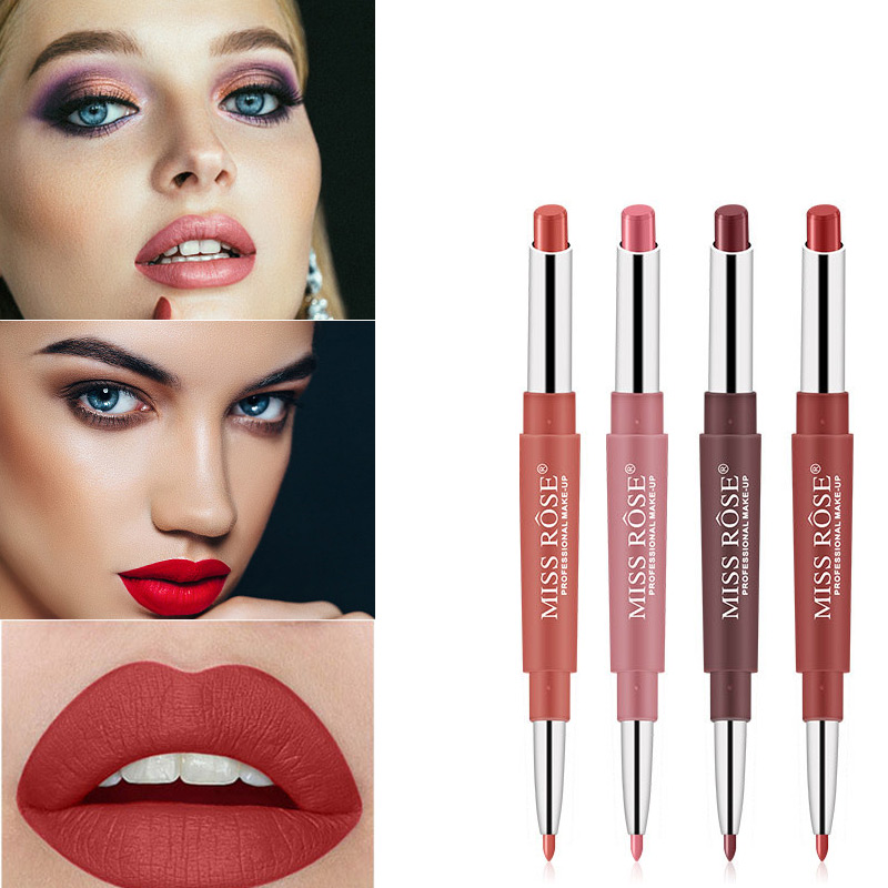 Miss Rose lipstick pencil Long-lasting Matte Lip Pencil Waterproof Moisturizing Lipstick <font><b>Sexy</b></font> Red Lip Liner <font><b>Ladies</b></font> Woman image
