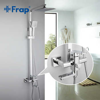 Frap 1 Set Bathroom Rainfall Shower Faucet Set Single Handle Mixer Tap With Hand Sprayer Wall Mounted Bath Shower Sets F2420 - DISCOUNT ITEM  50 OFF Home Improvement