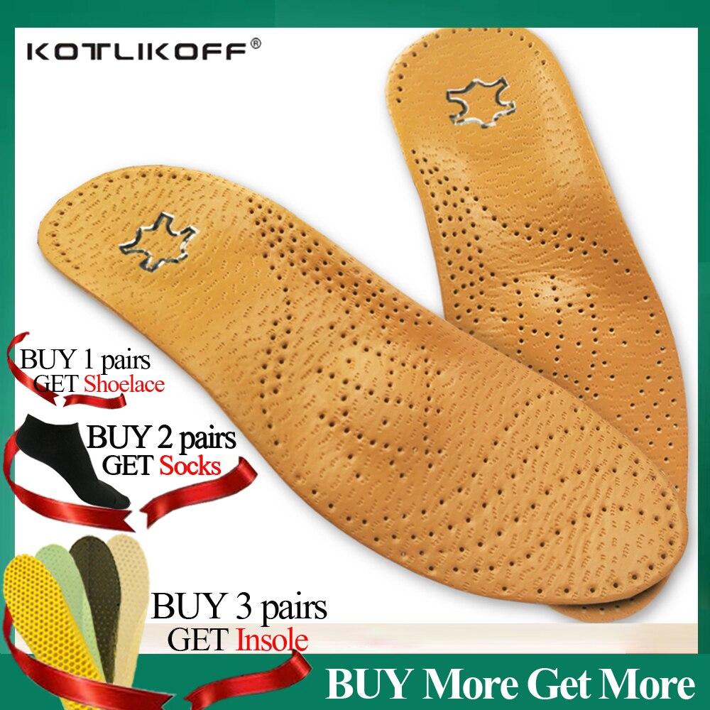 Kotlikoff palmilhas ortopédicas de couro, palmilhas ortopédicas de alta qualidade para os pés, suporte de arco de 25mm para homens e mulheres