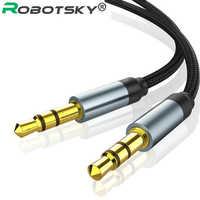 Conector de Audio de 3,5mm para Samsung S10, Cable auxiliar macho a macho de 3,5mm para auriculares de coche, altavoz, Línea alámbrica, Aux CordSpeaker