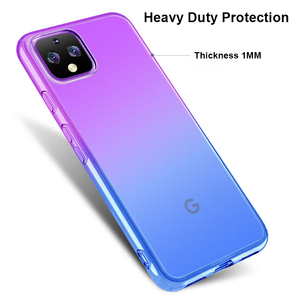 Image 5 - Caso de telefone de cor gradiente para google pixel 4 4xl 3a xl coque tpu macio silicone volta capa para google pixel 3a 3axl