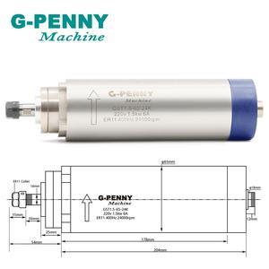 Image 2 - New Product! 220V 1.5KW ER11 CNC Air Cooled Spindle Motor 65mm Air Cooling 4Bearings CNC& 220v 1.5kw VFD inverter & 65mm bracket