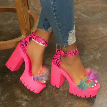 2020 Summer Thick Bottom Platform Sandals For Women Thick With Sandals Wedges Shoes For Woman Femme High Heels Shoes Ladies