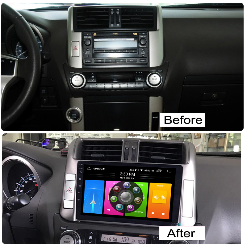 Android 10.0 <font><b>2</b></font> <font><b>Din</b></font> <font><b>Car</b></font> Autoradio <font><b>For</b></font> <font><b>Toyota</b></font> <font><b>Prado</b></font> <font><b>150</b></font> <font><b>2010</b></font> Lc150 <font><b>Radio</b></font> GPS Navigation USB Multimedia Cassette Recorder Player image