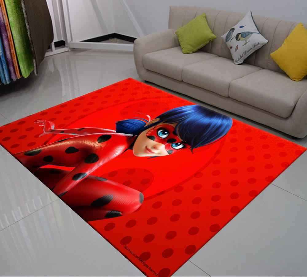 Carpet Personality Living Room Bedroom Corridor Cartoon Anime Spider-Man Rug Non-Slip Carpet Rectangular Boy Childrens Floor Mat