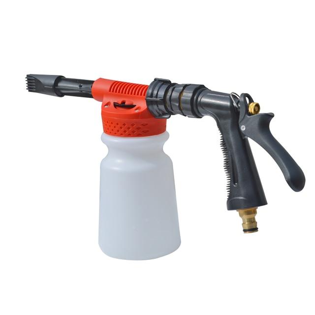 Водопроводный пистолет для пены автомойки, пистолет для чистки пены, пистолет для мыла, пенная насадка, генератор пены низкого давления, водяной шланг, пистолет для пены