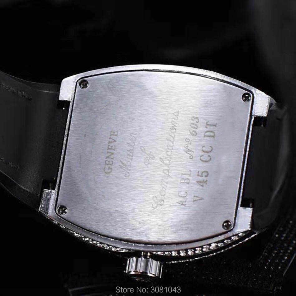 Dropshipping 2020 AAA Luxury Iced OutนาฬิกาSkullกีฬานาฬิกา฿ควอตซ์นาฬิกาMens Quartzนาฬิกา 30Mกันน้ำ