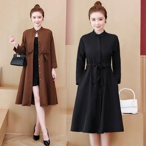 Trench   Coat For Women Windswear Woman Clothes Oversize   Trench   Coats Casual Women's Windbreaker Overcoat Casacos Femininos