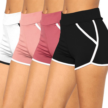 Women Summer Short Pants Contrast Binding Side Split Elastic Waist Patchwork Casual Beach Party Shorts Workout Running Shorts цена 2017