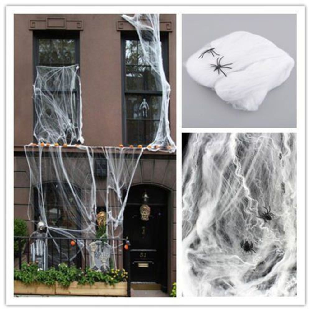 Stretchy Spider Web Cobweb Prop Halloween Home Bar Party Festival Decoration Or Halloween DIY Party Decoration 5 Colors