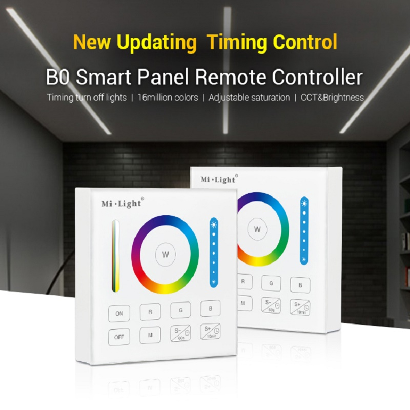 Milight 2.4GHz Wireless <font><b>WIFI</b></font> Touch Panel Dimmer <font><b>LED</b></font> Smart Remote Controller B0 B1 B2 B3 B4 B8 4-Zone 8 Zone/<font><b>RGBW</b></font>/RGB + CCT image