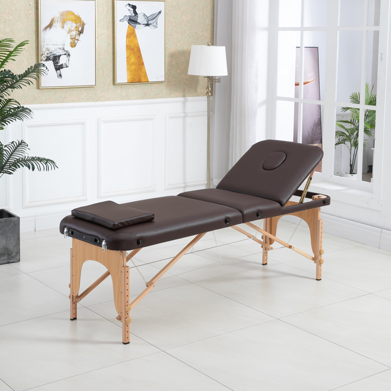shop for adjustable portable massage table with square pillow made of pvc material online