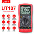 Мультиметр UNI-T UT107 ЖК-дисплей Автомобильный ручной мультиметр AC/DC вольтметр тестер метров с DWELL, об/мин, проверка батареи
