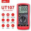 Multimetr UNI-T UT107 LCD motoryzacyjny podręczny multimetr AC/DC woltomierz Tester metrów z przytrzymaniem kąta skrętu, obr/min, wyboru baterii