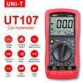 Multimetro UNI-T UT107 LCD Automotive Handheld Tester AC/DC voltmetro Tester Metri con SOSTA, RPM, di Controllo Della Batteria