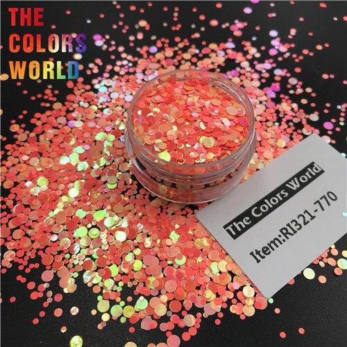 TCT-363 круглая точка микс Русалка жемчуг блеск для ногтей художественное украшение Смола Искусство на тумблеры и формы ремесло аксессуары фестиваль - Цвет: RI321-770   50g