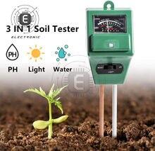 3 IN 1 Digital Boden Feuchtigkeit Sonnenlicht PH Meter Tester für Pflanzen Blumen Säure Feuchtigkeit Messung Garten Werkzeuge