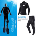 2021 NEW 2mm3mm5mm wetsuit men neoprene winter Keep warm dive and sail siwmming surfing diving free acuba Snorkeling wetsuit
