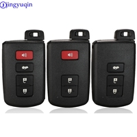 Jingyuqin remoto 3/4 botão caso chave do carro escudo para toyota camry corolla avalon rav4 land cruiser chave inteligente