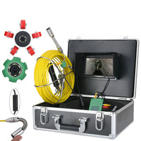 7 Monitor 20/30/40M Pipe Inspection Video Camera,IP68 HD 1000TVL Drain Sewer Pipeline Industrial Endoscope System
