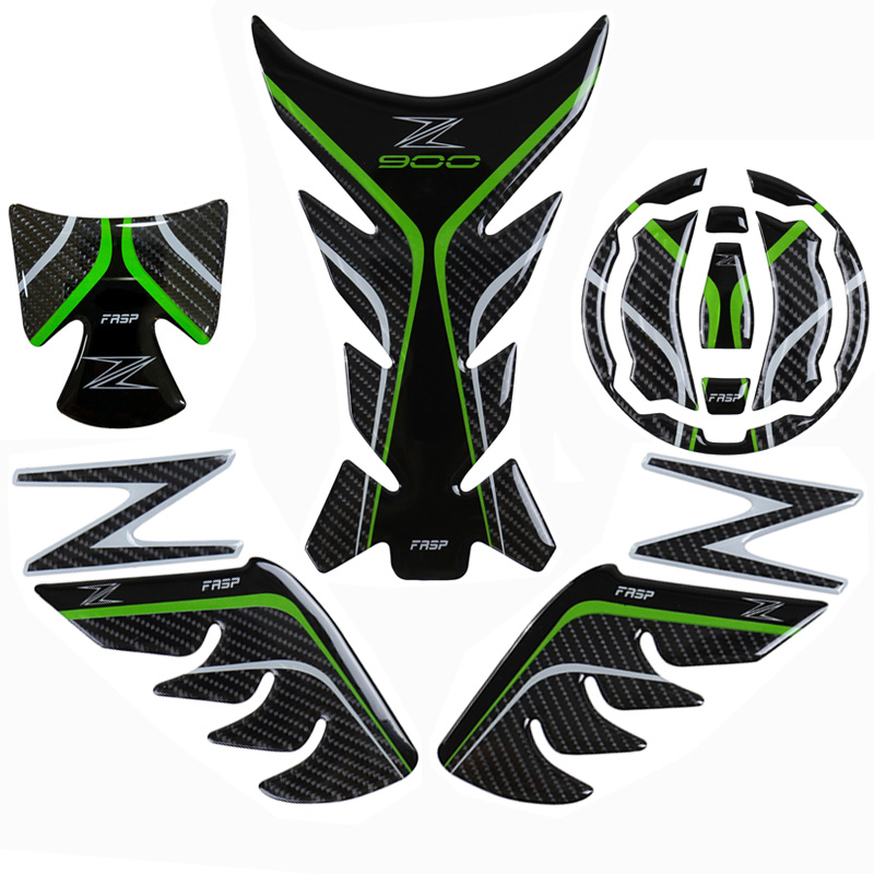 FASP z900 genuine carbon fiber sticker set for kawasaki motorcycle sports car