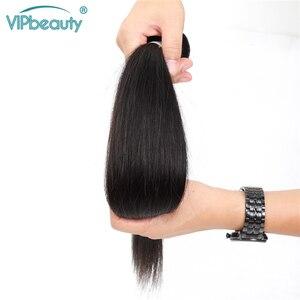 Image 2 - VIP Schoonheid Maleisische Steil Haar 4 Bundels 100% Human Hair Weave Remy Hair Extensions Natuurlijke Zwarte Kleur Haar Inslag