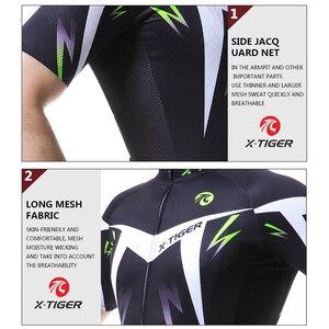 Image 4 - X TIGER Man ג רזי בגדי אופני הרים מהיר יבש מירוץ MTB אופניים בגדים אחיד Breathale רכיבה על אופניים בגדים ללבוש