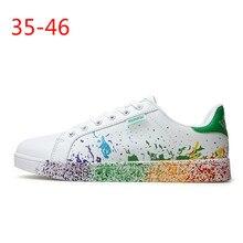 Unisex Fashion White Patent Skateboarding Skate Shoes Trendy Women Men's Low-Top Shoes Handsome Catwalk Lace-Up Casual Shoes недорого