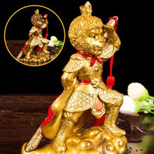 New Discoloration Tea Pet Handcrafted Resin Decoration Chinese Tea Set Accessories Monkey King with Gold Hoop Lucky Ornament(China)