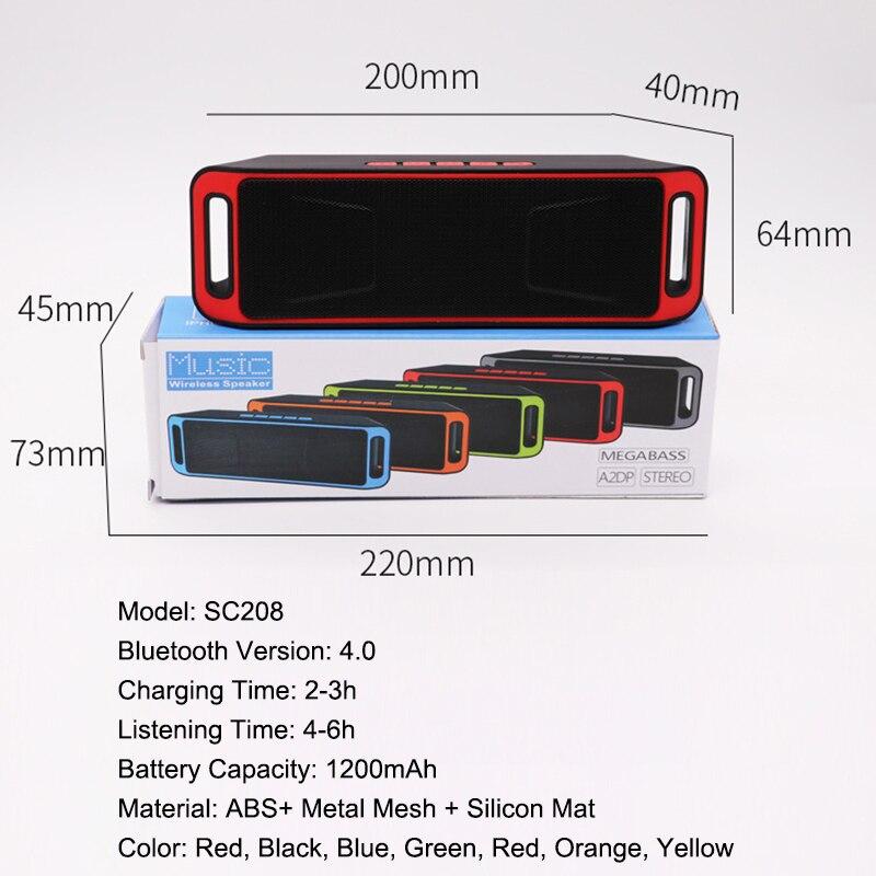 Купить sc208 беспроводной bluetooth динамик компьютера мини двойной