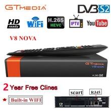 Buy V8 Nova Satellite Receiver Gtmedia V8 NOVA HD 1080P Europe Clines for 2 Year Spain Built Wifi Dongle V9 Super Power by V8 Super directly from merchant!