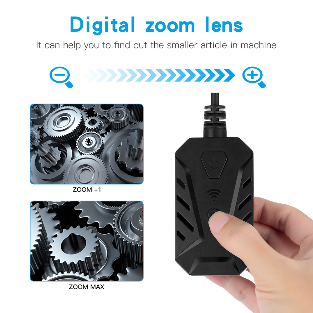 Image 3 - WiFi Handheld Endoscope Automatic Focusing 14mm Underwater Lens Industrial Borescope Retractable 500W Pipe Car Inspect Camera