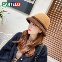 Fisherman Hat New-Hat Brim Winter Fashion Women Multi-Color And Wool Small Autumn CARTELO