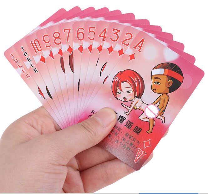 1 Juego de póquer sexual para adultos pareja interesante amor erótico postura noche Bar KTV letras pequeñas Tejas tablero de naipes juegos