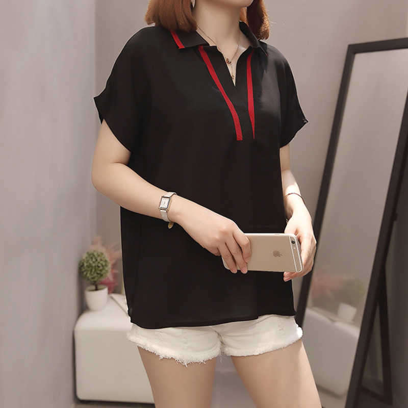 Plus Size Women Chiffon Shirts  5